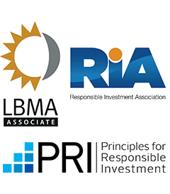BMG is an associate member of the LBMA, RIA and Signatory to the PRI.